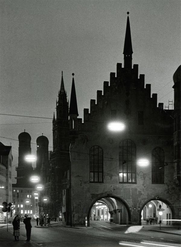 Herbert Wendling, München 1930 - 1960, Altes Rathaus bei Nacht