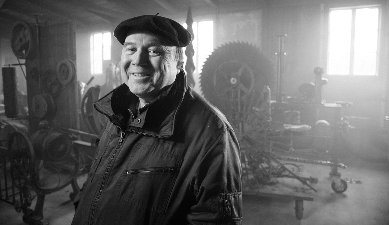 Portrait, Willi Reiche in der Maschinenhalle