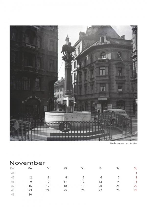 Kalenderseite München mit Fotografien von Herbert Wendling